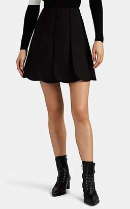 Valentino Women's Wool-Blend & Silk Scalloped-Hem Miniskirt - Black