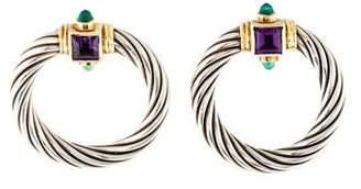David Yurman Renaissance Amethyst & Chalcedony Door Knocker Earrings