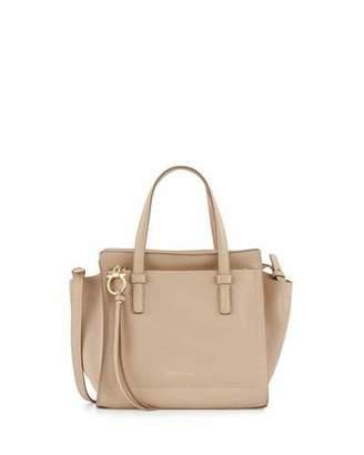 Salvatore Ferragamo Amy Small Gancio Leather Tote Bag, New Bisque $1,150 thestylecure.com