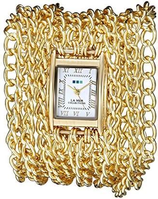 La Mer Women's LMACW5001 Analog Display Japanese Quartz Gold Watch
