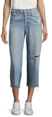 Frame Truxton Cropped Distressed Jeans