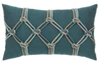 Elaine Smith Lagoon Rope Lumbar Pillow