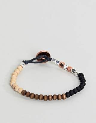 Classics 77 Mixed Beaded Bracelet With Burnished Copper Button Closure