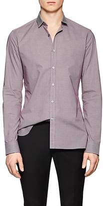 Lanvin Men's Micro-Checked Cotton Poplin Shirt