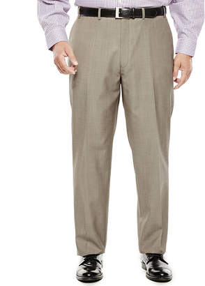 COLLECTION Collection by Michael Strahan Taupe Flat-Front Suit Pants - Big & Tall