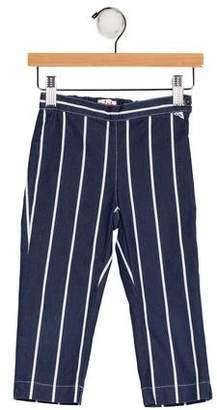 Il Gufo Girls' Striped Chambray Pants