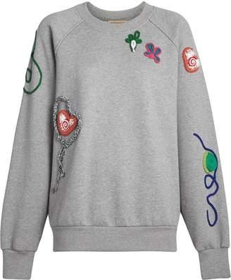 Burberry Embellished Jersey Sweatshirt