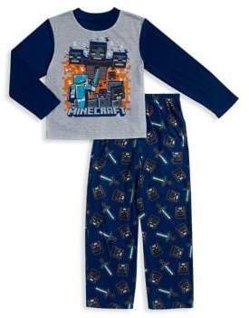 AME Sleepwear Little Boy's and Boy's Minecraft Long Sleeve Pajama Set