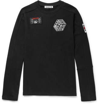 McQ Appliquéd Loopback Cotton-Jersey Sweatshirt