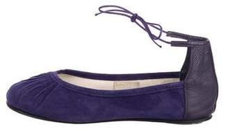 Repetto Suede Ankle-Strap Flats