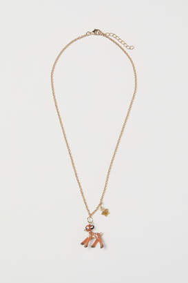 H&M Necklace with Pendant - Beige