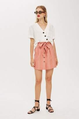 Topshop Tall Stripe Paperbag Skirt