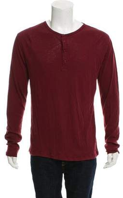 Slate & Stone Woven Henley T-Shirt w/ Tags