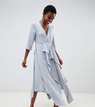 Asos Petite drape panel midi dress