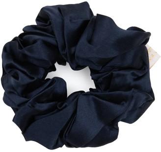 Holistic Silk Pure Mulberry Silk Scrunchie Navy