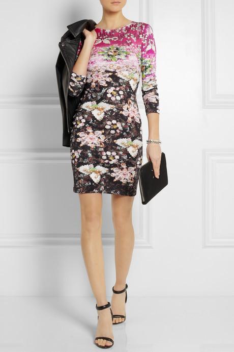 Mary Katrantzou Jewel-print silk-jersey dress