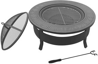 Gardeon Fire Pits Courtsend 2-in-1 Outdoor Table, Round