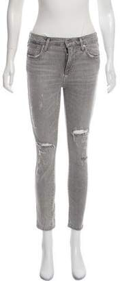 A Gold E AGOLDE Distressed Mid-Rise Jeans
