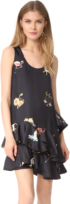 Cynthia Rowley Zodiac Print Multi Ruffle Dress $375 thestylecure.com