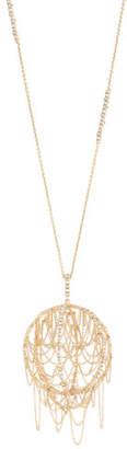 Alexis Bittar Chain Fringe Pendant Necklace $695 thestylecure.com