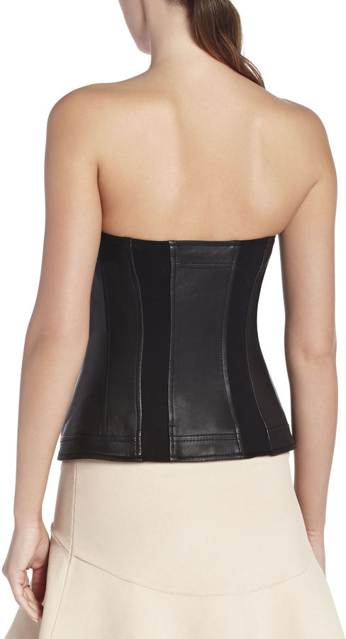 BCBGMAXAZRIA Andock Leather Bustier