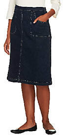 Denim & Co. Classic Waist Colored Denim A-lineSkirt