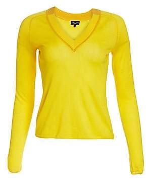 Rag & Bone Rag& Bone Rag& Bone Women's Pamela Merino Wool Knit V-Neck Sweater