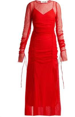 Diane von Furstenberg Ruched lace gown