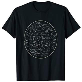 CONSTELLATION MAP T SHIRT Space Astronomy Star Chart Tee
