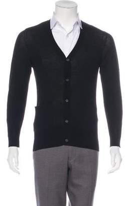 John Varvatos Wool V-Neck Cardigan