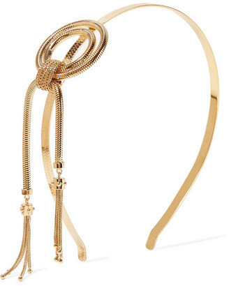 Prada Gold-tone Headband - one size
