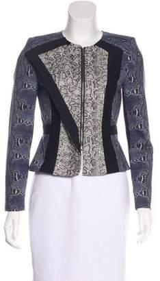 BCBGMAXAZRIA Printed Zip-Up Jacket