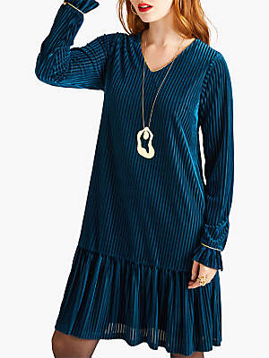 Yumi Striped Tunic Dress, Blue Teal