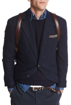 Brunello Cucinelli Twill Two-Button Sport Jacket, Navy $3,895 thestylecure.com