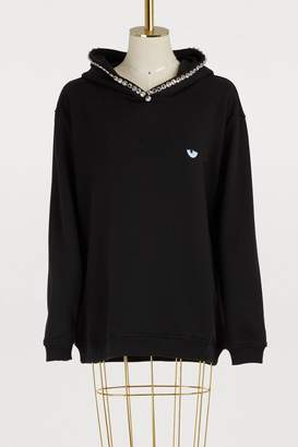 Chiara Ferragni Oversized rhinestone hoodie