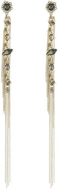 Alexis BittarAlexis Bittar Vintage Fringe Post w/ Custom Cut Stones Earrings