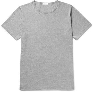 Sunspel Mélange Cotton-Jersey T-Shirt $55 thestylecure.com
