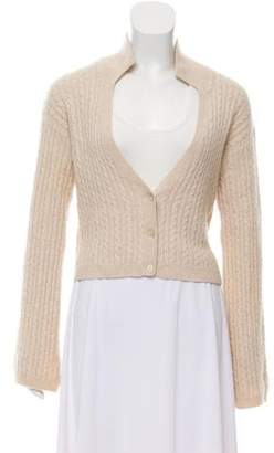 Malo Cable Knit Button-Up Cardigan