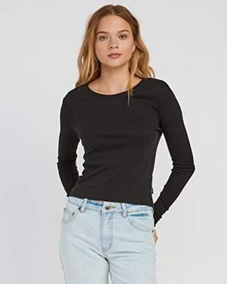 RVCA Junior's Label Long Sleeve T-Shirt