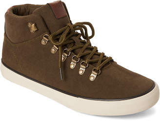 Andrew Marc Fatigue & Bone Mid Canvas Sneakers