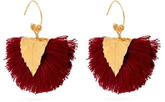 Elise Tsikis - Agia Tassel Embellished Earrings - Womens - Burgundy
