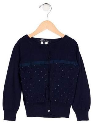 Lili Gaufrette Girls' Embellished Knit Cardigan