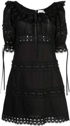 Zimmermann Honour pintuck panelled dress
