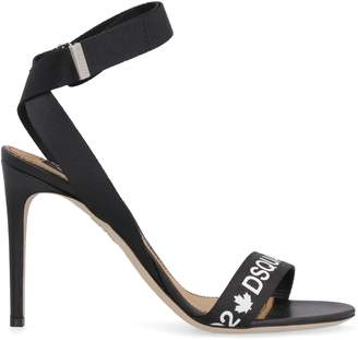 375fdb473f DSQUARED2 Black Heel Strap Women's Sandals - ShopStyle