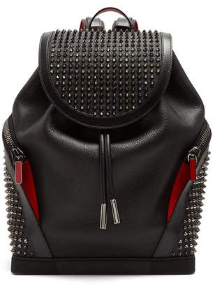 Christian Louboutin - Explorafunk Spike Embellished Backpack - Mens - Black Multi