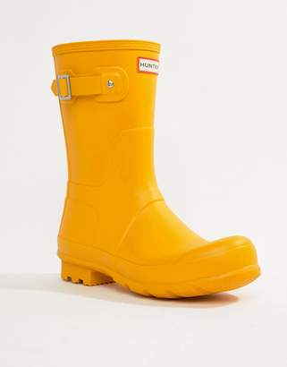 Hunter short wellies in yellow