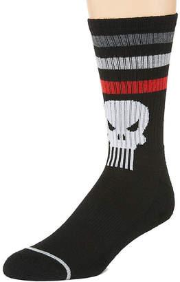 Marvel Novelty Socks 1 Pair Punisher Crew Socks-Mens