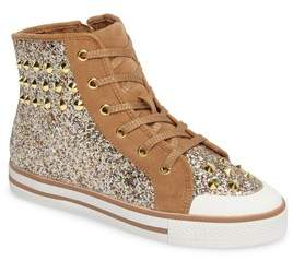 Ash Lita Roe Glittery High Top Sneaker
