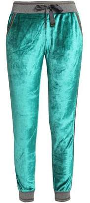 Roberto Cavalli Lamé-Trimmed Chenille Track Pants