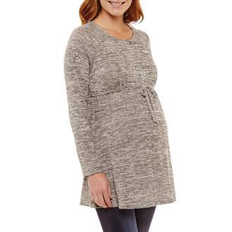 Three Seasons Maternity Long Sleeve Babydoll Top - Maternity